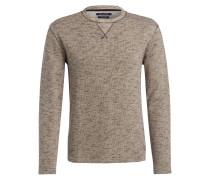 Pullover - braun/ beige
