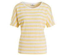 Leinenshirt - gelb/ creme gestreift