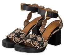 Sandaletten KRISTY - NERO/ TAUPE