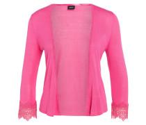 Strickbolero mit Spitze - pink
