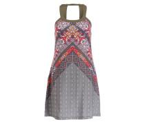 Kleid CANTINE - grün/ grau/ rot
