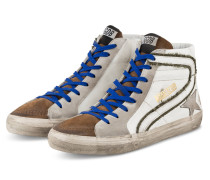 Hightop-Sneaker SLIDE - WEISS/ HELLBRAUN