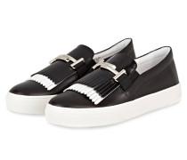 Slip-on-Sneaker - schwarz/ weiss
