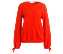 Pullover mit Schleifen-Details - orangerot