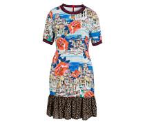 Kleid - rot/ blau