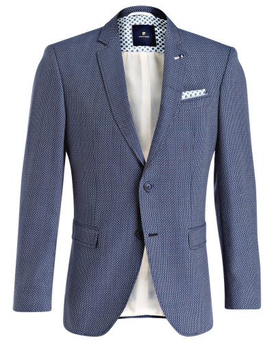 Sakko LUCAS Regular-Fit - blau/ weiss