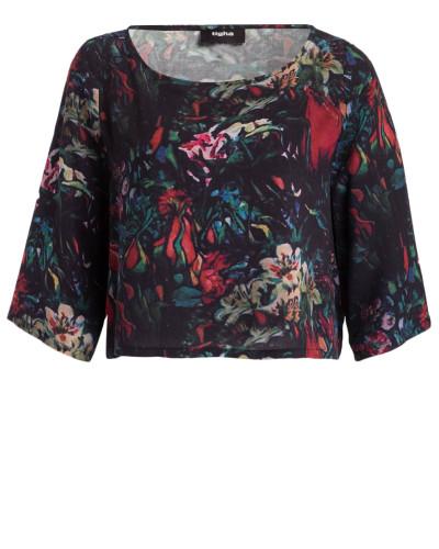 T-Shirt GRETCHEN - schwarz/ rot/ grün