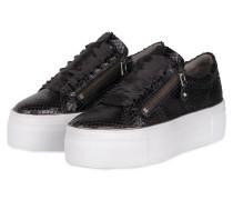Plateau-Sneaker TOP - SCHWARZ