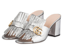 Mules GG MARMONT - SILBER