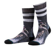 Socken KHAN - schwarz/ lila