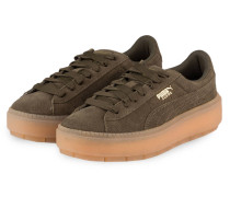 Plateau-Sneaker PLATFORM TRACE - oliv