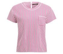 Strickshirt - weiss/ fuchsia
