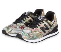 Sneaker WL574S - SCHWARZ/ GOLD/ GRÜN