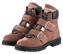Samt-Boots BREEZE 39 - altrosa/ schwarz