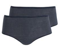 2er-Pack Slips - dunkelblau/ weiss