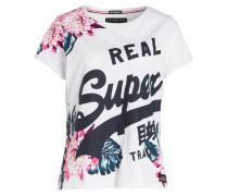 T-Shirt - weiss/ navy/ rosa