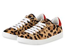 Sneaker - BRAUN/ BEIGE/ ROT