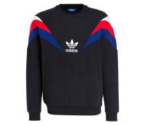 Sweatshirt NEVA - schwarz/ rot/ blau