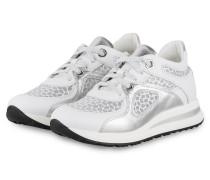 Plateau-Sneaker MINA 11 - WEISS/ SILBER