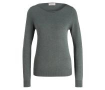 Pullover - dunkelgrün meliert