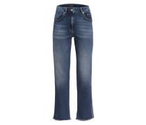 Flared Jeans mit Galonstreifen