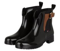 Gummi-Boots OXLEY - SCHWARZ/ COGNAC