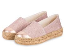 Espadrilles ELISA - rosa metallic