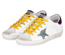 Sneaker SUPERSTAR - WEISS/ LILA/GLITTER