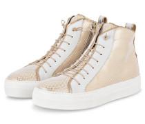 Hightop-Sneaker ANNA - GOLD/ WEISS