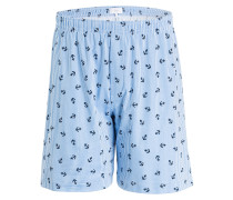 Lounge-Shorts - blau/ weiss gestreift