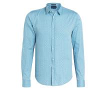 Hemd Extra Slim-Fit - hellblau/ blau