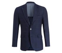 Sakko Regular-Fit - blau kariert
