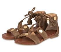 Sandalen - hellbraun