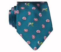 Krawatte - grün/ rot