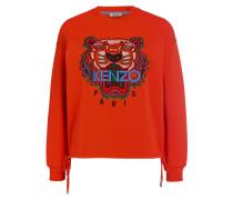 Sweatshirt - orangerot