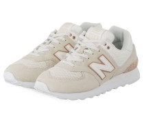 Sneaker WL574 - CREME/ BRONZE