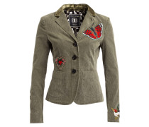 Cordblazer mit Patches - khaki