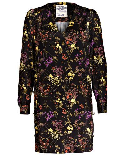 Kleid - schwarz/ violett
