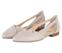 Cut-out-Ballerinas - GREIGE