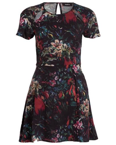 Kleid REGINA - schwarz/ rot/ grün