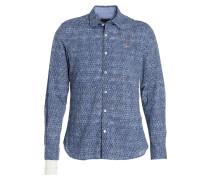 Hemd GOTAN Slim-Fit - blau/ weiss