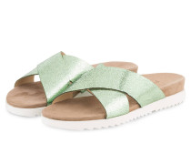 Sandalen - hellgrün metallic