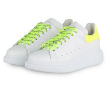 Plateau-Sneaker - WEISS/ NEONGELB