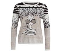 Pullover LOLA - wollweiss/ schwarz/ ivory