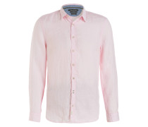 Leinenhemd Shaped-Fit - rosa