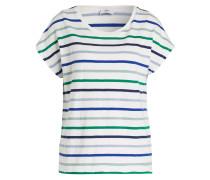 T-Shirt - ecru/ navy/ grün
