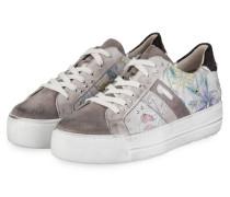 Plateau-Sneaker - GRAU/ WEISS