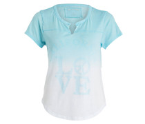 T-Shirt LOVE ARTWORK - weiss/ blau