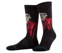 Socken THRILLER - schwarz/ rot