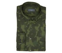 Hemd Slim-Fit - grün/ dunkelgrün